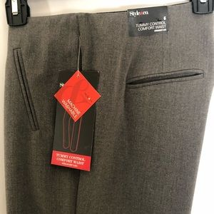 STYLE & CO Ladies Gray Stretch Dress Slacks
